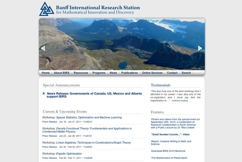 BIRS: Home page (2010)