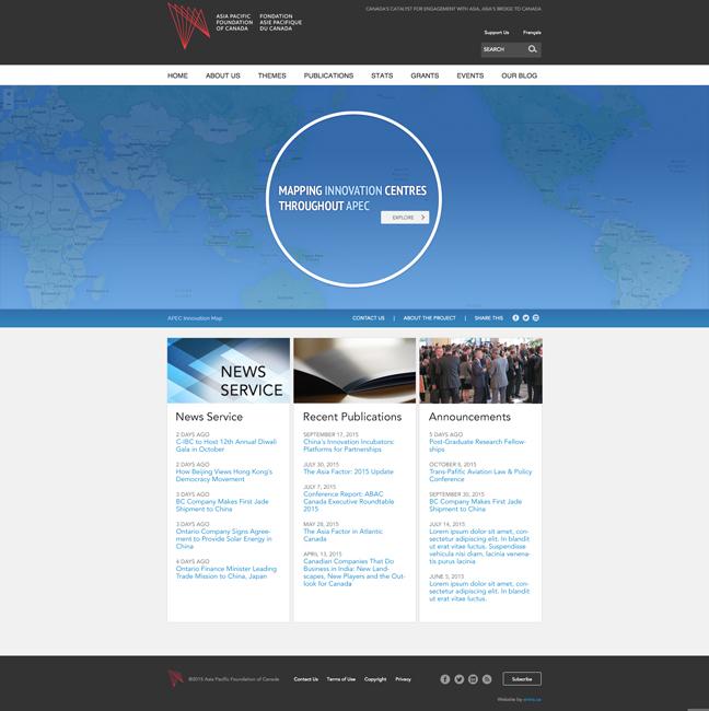APEC Innovation Mapping Prototype – Splash Page
